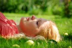 Young woman outdoors Royalty Free Stock Image