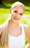 Young Woman Outdoors Royalty Free Stock Photography