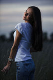 Young woman outdoors Royalty Free Stock Images