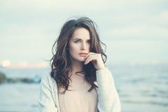 Free Young Woman Outdoors. Beautiful Girl Walking Stock Image - 102732371