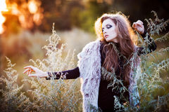 Young woman outdoors fashion portrait. Stock Photography