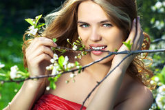 Young woman outdoors portrait Royalty Free Stock Photos