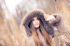 Young woman outdoors portrait Royalty Free Stock Photography