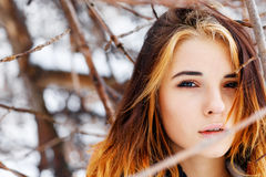 Young woman outdoors portrait. Royalty Free Stock Image