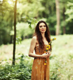 Young woman outdoors Royalty Free Stock Photos