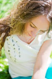 Young woman outdoors portrait. Stock Images