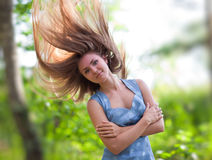 Young woman outdoors positive portrait Royalty Free Stock Photos