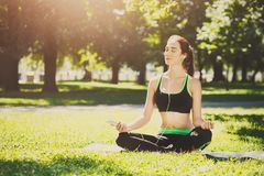 Free Young Woman Outdoors, Relax Meditation Pose Stock Photography - 109755322