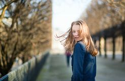 Young woman outdoors on a spring day Royalty Free Stock Images