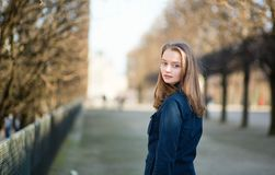 Young woman outdoors on a spring day Stock Photography