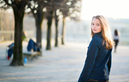Young woman outdoors on a spring day Royalty Free Stock Photos