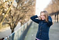 Young woman outdoors on a spring day Stock Images