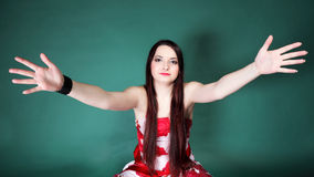 Young woman with outstretched arms Stock Image