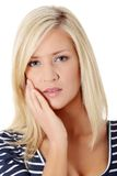 Young woman in pain Royalty Free Stock Photo