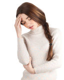 Young woman with pain Stock Photography