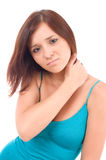Young woman with pain Stock Images
