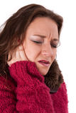 Young woman with pain Stock Photo
