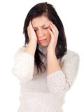 Young woman with pain, headache Royalty Free Stock Photography