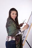 Young woman painting Royalty Free Stock Photos