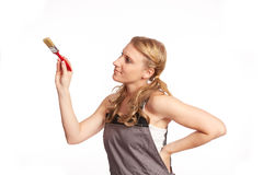 Young woman painting Royalty Free Stock Image