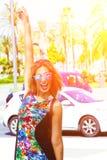 Young woman in Palma de Mallorca Royalty Free Stock Photography