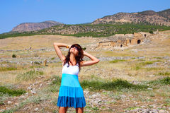 Young woman in Pamukkale, Turkey Stock Photography