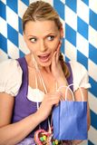 Young woman with paper bag Stock Photography
