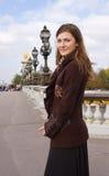 Young woman in Paris stock photos