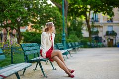 Young woman in Paris Stock Image