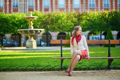 Young woman in Paris Royalty Free Stock Photos
