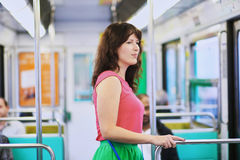Young woman in Parisian underground Royalty Free Stock Photos