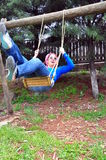 Young woman at park Royalty Free Stock Image