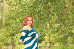 Young woman in the park Royalty Free Stock Photo