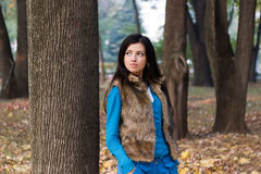 Young woman in park Stock Photography