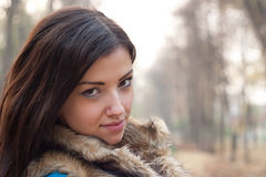 Young woman in park Royalty Free Stock Photo