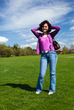 Young woman in a park Stock Photography