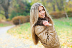 Young woman in a park Royalty Free Stock Photography