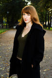 Young woman in park Royalty Free Stock Images