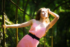 Young woman in a park royalty free stock photo