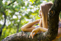 Young woman at park Royalty Free Stock Photography
