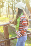 Young Woman In the Park Stock Photography