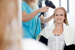 Young Woman At Parlor Stock Photography
