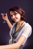 Young woman. party Stock Photo