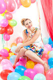 Young woman at a party Royalty Free Stock Photo