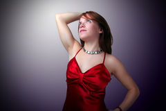 Young woman in party dress Royalty Free Stock Images