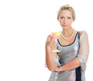 Young woman in party dress Stock Photography