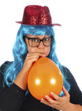 Young woman with party hat Royalty Free Stock Images