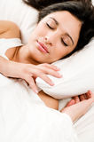 Young woman peaceful sleeping Stock Photos