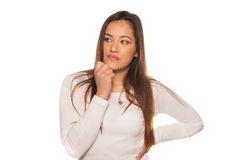 Young woman in a pensive mood Stock Photography