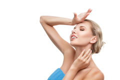 Young woman with perfect clean skin Stock Images